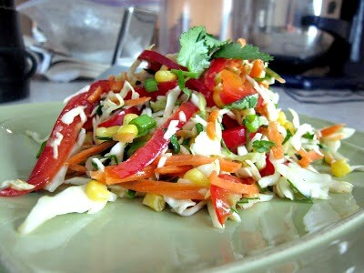Cabbage and Corn Slaw With Cilantro-Orange Dressing