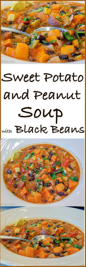 This Sweet Potato and Peanut Soup with Black Beans will rock your ...