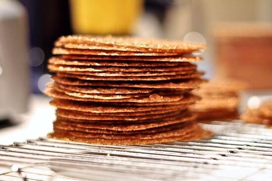 Espresso Hazelnut Lace Cookies - The Spiced Life