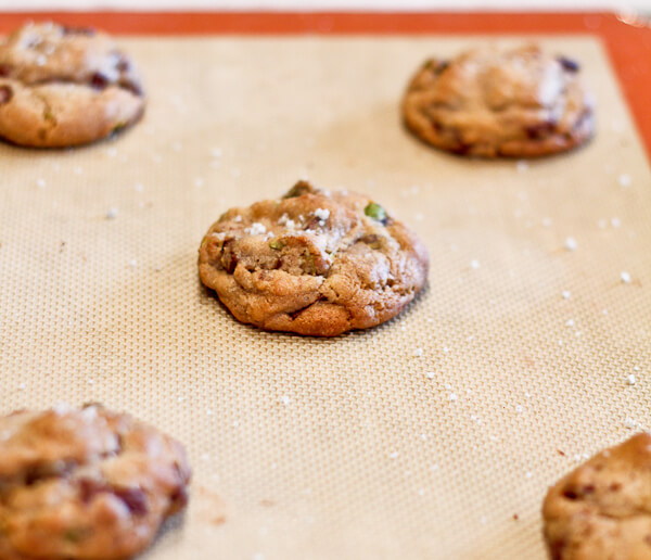 Pistachio and Dark Chocolate Chunk Cookies - The Spiced Life