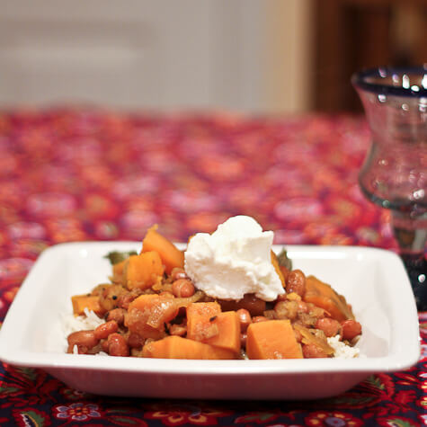 Curried Cranberry Beans and Sweet Potatoes   The Spiced Life