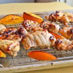 Broiled Orange Honey Glazed Chicken Thighs