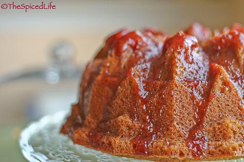 Spiced Orange Buttermilk Bundt Cake with Strawberry Jam Glaze