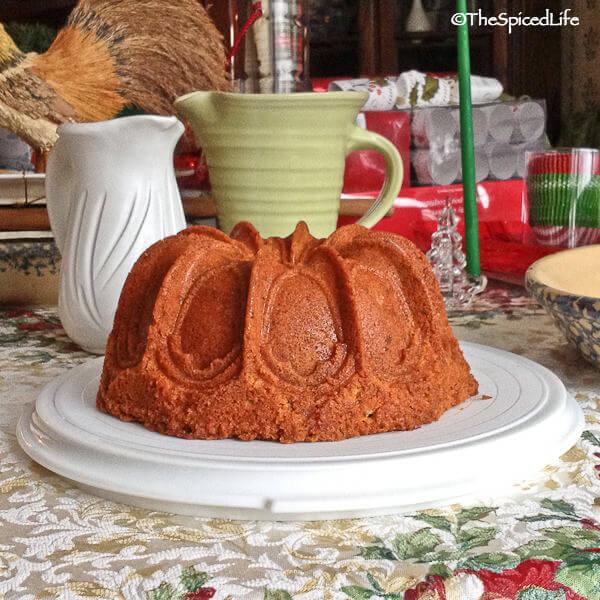 Lemon Glazed Pistachio Bundt Cake with Lemon and Orange Zest