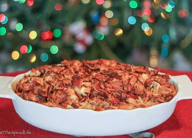 Make Ahead Maple Waffle Breakfast Casserole with Bacon and Sausage for ...