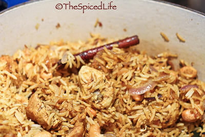 Fabulously easy and delicious Indian #GlutenFree meal! Slow cooked chicken is used to make an outstanding pilaf