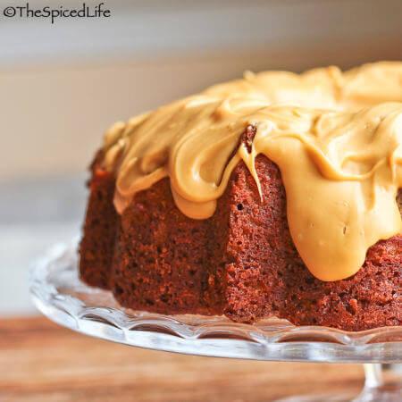 Butterscotch Pecan Bundt Cake with Salted Caramelized White Chocolate Glaze