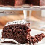 Dark Chocolate Cake made with Extra Virgin Olive Oil