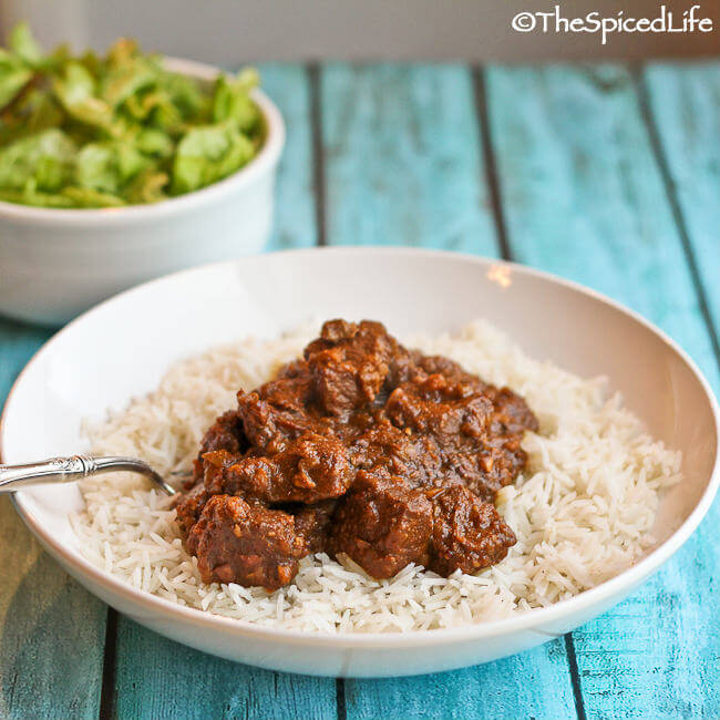 Restaurant Style Beef Vindaloo curry--easy and delicious!