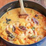 Shrimp, Pineapple and Butternut Squash Curry for a Weeknight