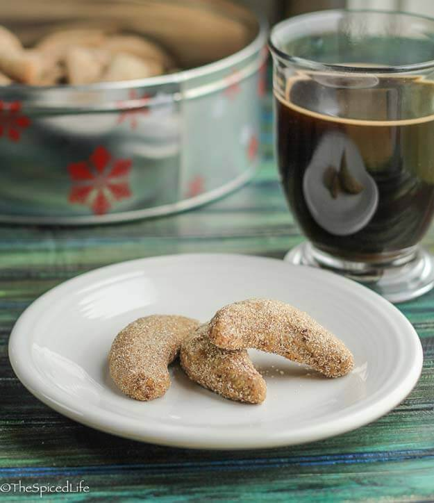 Italian Chifferi cookies with Espresso and Cinnamon-Sugar