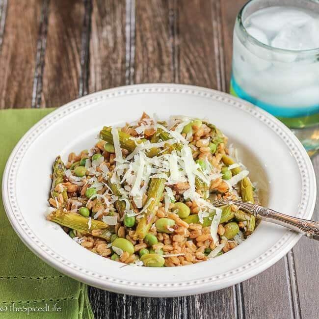 Asparagus And Zucchini Farro Salad Recipe — Dishmaps