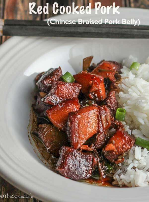 Red Cooked Pork (Chinese Braised Pork Belly)