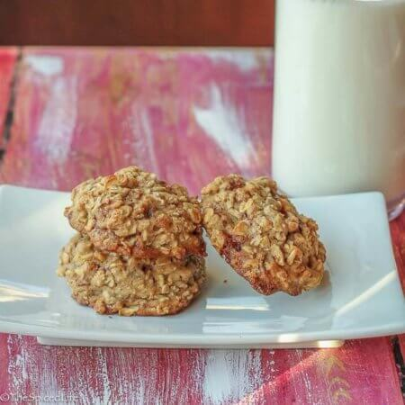 Spiked Apple Oatmeal Cookies