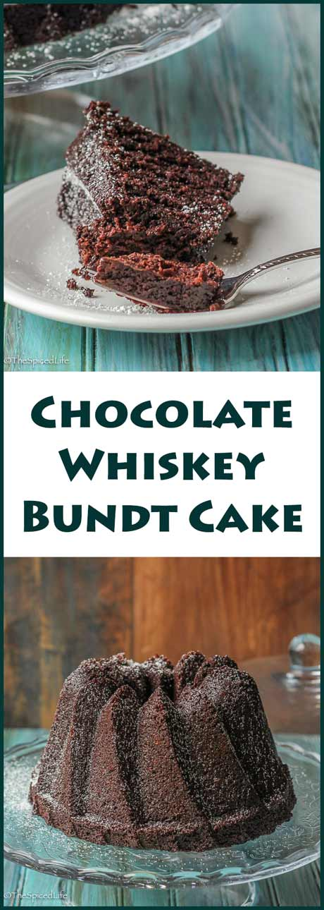 Whiskey Bundt Cake--a delicious dark chocolate cake made with bourbon ...