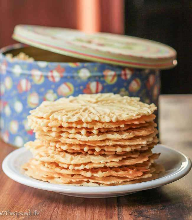 Pizzelles 2 ways: traditional Anise and Citrus Vanilla