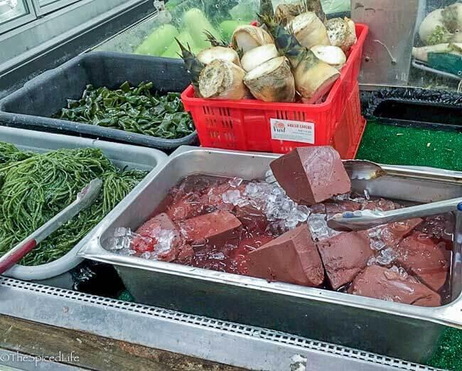 pork blood chunks from Lotus Food Company