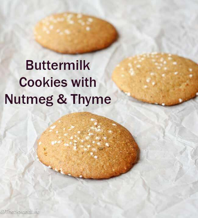 Buttermilk Cookies with Nutmeg and Thyme: #CreativeCookies; Review of ...