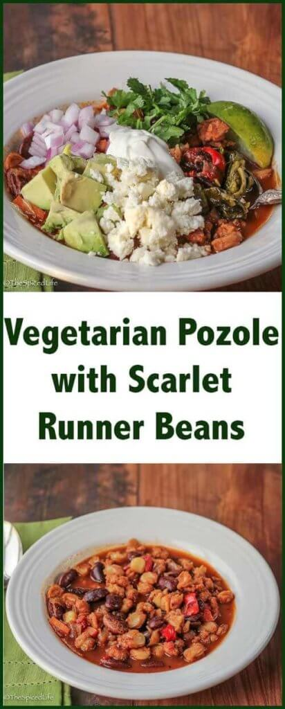 Vegetarian Pozole (or Posole) with Scarlet Runner Beans