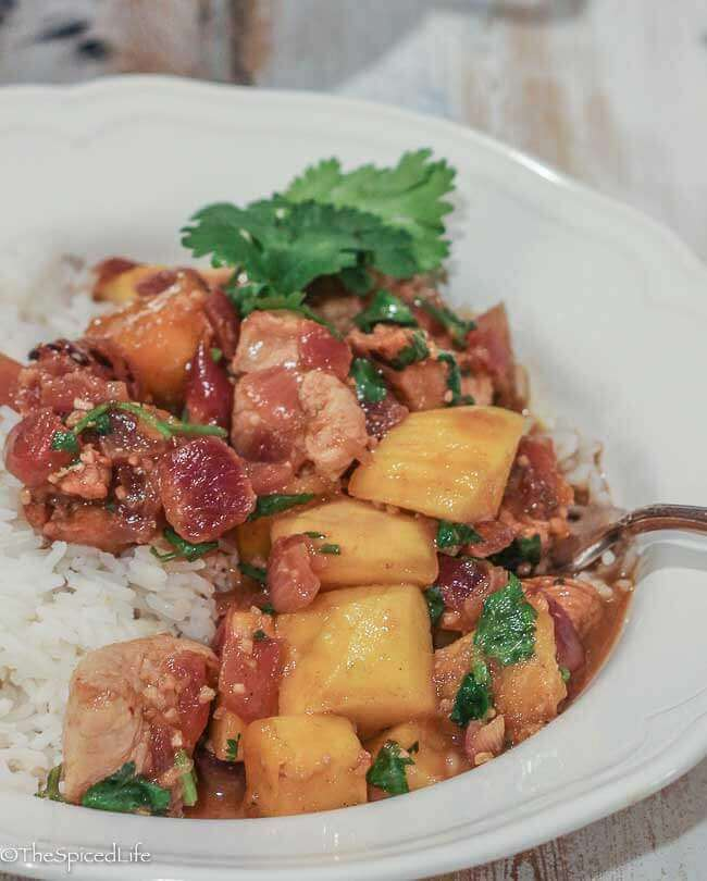 Cuban Stir Fry with Pork (or chicken!) and Mango