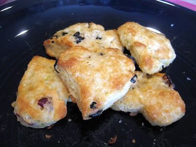 Butter Scones with Dried Fruit