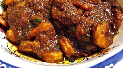 Bhuna Hua Jhinga (Poached Shrimp in a Slow Cooked Onion Sauce)