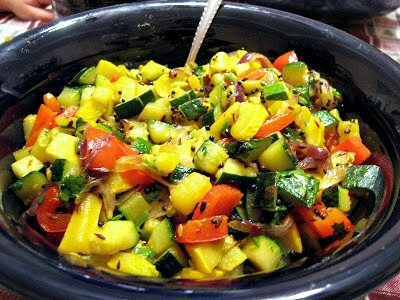 Pan Fried Indian Squash and Peppers