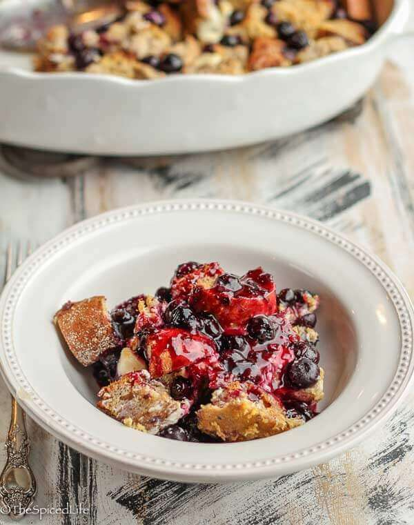 Make Ahead Blueberry Breakfast Casserole is perfect for Christmas as well as lazy weekend mornings.