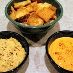 Middle Eastern dips with pita chips