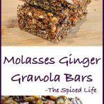 Molasses Ginger Granola Bars