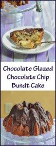 Chocolate Glazed Chocolate Chip Bundt Cake