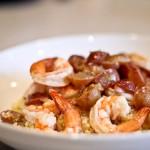 Shrimp with Grapes, Citrus & Rum