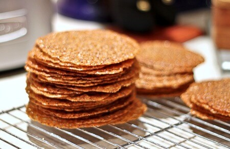 Espresso Hazelnut Lace Cookies