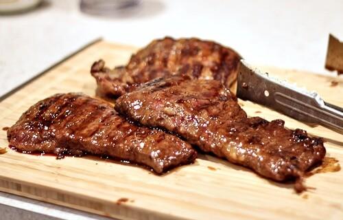 Grilled Skirt Steak for Farro Salad