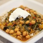 Sweet and Sour Chana Saag