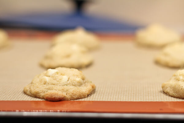 Lime Creamsicle Cookie on cookie sheet