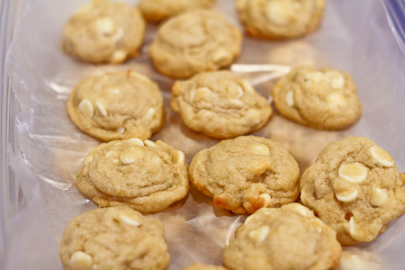 Cooling Lime White Chocolate Chip Cookies