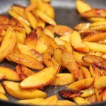 Browned peaches for Persian Beef Khoresh