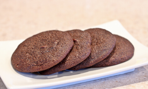 chocolate cream cheese snacking cookies from baked