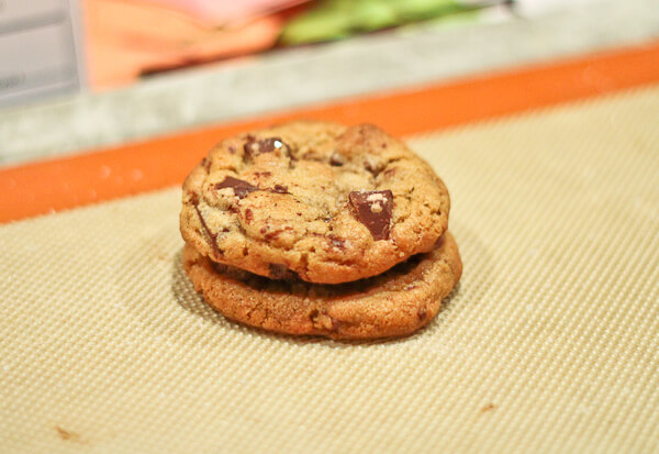 Browned Butter Dark Chocolate Chunk Cookies