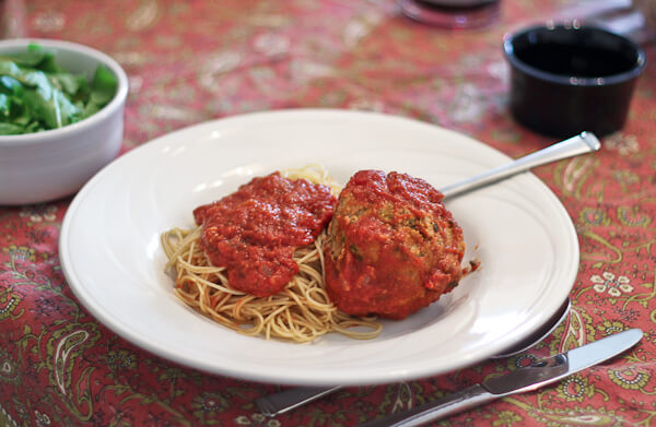 "Spaghetti and ""Fist Sized"" Meatballs"