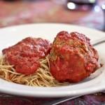 Spaghetti and Fist Sized Meatball