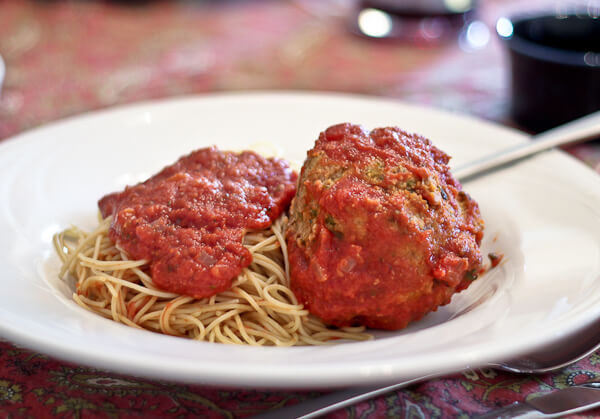 Spaghetti and Fist Sized Meatball