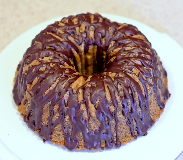 Mint Chocolate Chip Bundt Cake with Creme de Menthe