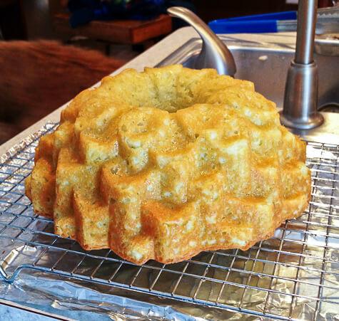 unglazed mojito bundt cake