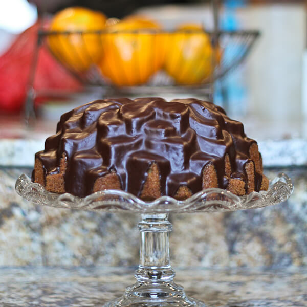 Chocolate Glazed Latte Cake