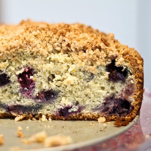 Citrus Scented Blueberry Buckle