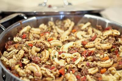 Turkish Ground Meat and Pasta