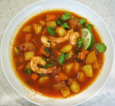Mexican Spicy Roasted Shrimp & Potatoes Stew