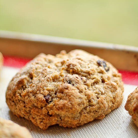 Dried Cherry and Hazelnut Soda Bread